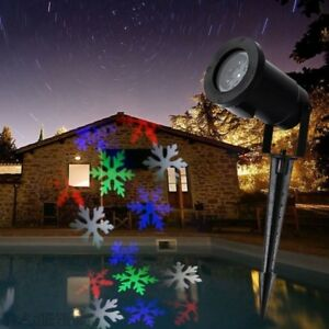 Proiettore Luci Natalizie Per Esterno Ebay.Proiettore Luci Esterno Fiocchi Di Neve Colorati Natale Fantasia Addobbi Dfh Ebay