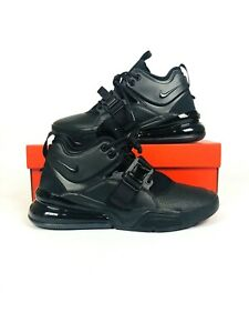 super popular fa104 d329b Image is loading Nike-Air-Force-270-Triple-Black-Men-Lifestyle-