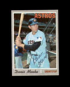 Denis Menke Hand Signed 1970 Topps Houston Astros Autograph