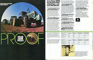 1983 4 Page Print Ad of John Deere 4850 Farm Tractor /& 8820 Combine