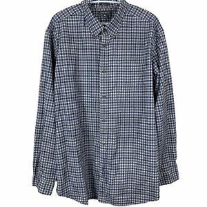 Eddie-Bauer-Mens-XL-Relaxed-Fit-Button-Down-Flannel-Shirt-Long-Sleeve-Plaid