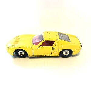 Matchbox-Lamborghini-Miura-Amarillo-Serie-No-33-Cromo-Llantas-de-direccion-P209