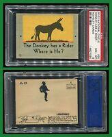 1930s R102 Novelty Cards #35 Donkey Has Rider PSA 8 NM-MT Cert #14827084