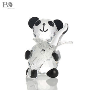 Crystal Figurines Panda Paperweight Animal Collectible Ornaments Wedding Gift