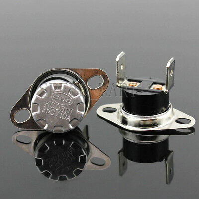 5 Pcs KSD301 Temperature Switch Control Sensor Thermal Thermostat 125° clubfoot