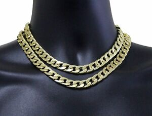8e295f4a7922a Details about 2pc Choker Set 12mm Miami Cuban Links 14k Gold Plated 16