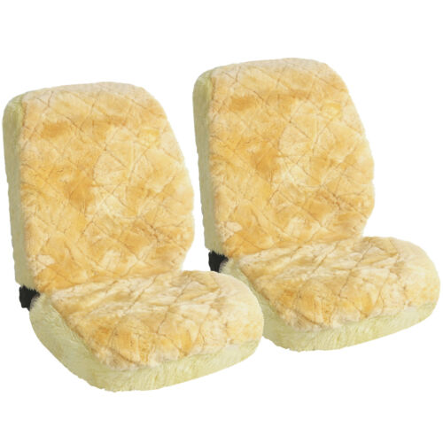 2x Lammfellbezug echt Lammfell Sitzbezug universal sitzbezug creme AS7334cm-2