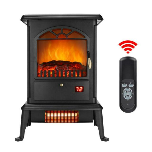 Ainfox Electric Fireplace Heater 1500w Standing Electric Wood Stove Heater For Sale Online Ebay
