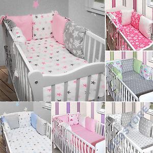 6 x kissen als nestchen nestchen mit kopfschutz f r babybett 140x70 neu ebay. Black Bedroom Furniture Sets. Home Design Ideas