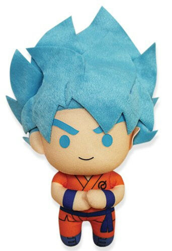 "Dragonball Z ~ 6.5/"" SSGSS GOKU PLUSH FIGURE ~ Official Great Eastern Plushie"