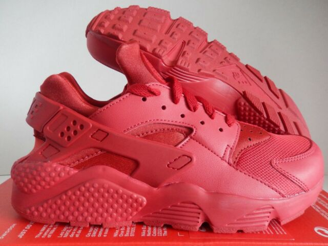 23dbe485d7d35 Nike Air Huarache Mens 318429-660 Varsity Triple Red Running Shoes ...