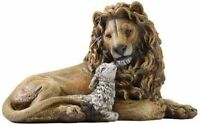 6.5 Lion And Lamb Figure Box By Roman, New, Free Shipping on Sale