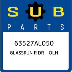 63527AL050-Subaru-Glassrun-r-dr-olh-63527AL050-New-Genuine-OEM-Part