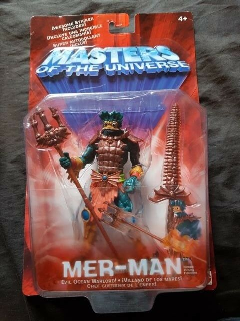 MER-MAN Masters of of of the Universe Figure New on Card 2001 He Man d015f8