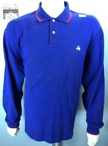 NWT-Mens-VTG-Brooks-Brothers-Golden-Fleece-XL-Solid-Cobalt-Blue-Soft-Cotton-Polo
