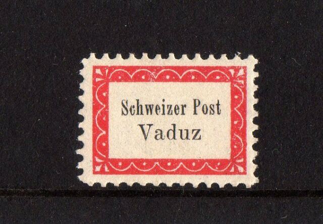 VADUZ SEVELEN 1918 LOCAL BICYCLE POST,LIECHTENSTEIN,SWITZERLAND,NHM