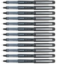 Uni-Ball Vision Eye UB-185 Needle Rollerball Pen Black FINE 0.5mm PACK of 12