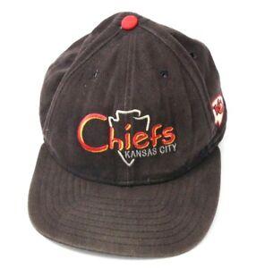 9bf5c1c81 Vintage New Era 90s ALL Black Kansas City Chiefs Snapback Hat
