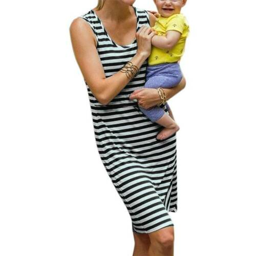 Pregnant Womens Casual Nursing Long Dress V Neck Maternity Gown Party Maxi Dress