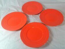 4 Piece Set Salad Plates Rachael Ray Double Ridge Bright Orange Dinnerware & Rachel Ray Double Ridge Set of 4 Orange Salad Plates 8 | eBay