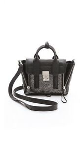 8cd60ceaf22 Image is loading 3-1-Phillip-Lim-Mini-Pashli-Satchel-Black-
