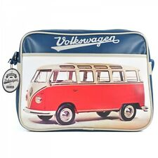 Officially Licensed Volkswagen Retro Shoulder Messenger Bag Red Van #BAGRVW02