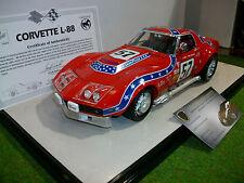 CORVETTE L-88 de 1972 SEBRING 12H rouge 1/18 d CAROUSEL 1 4601 voiture miniature