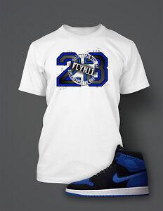 23-T-Shirt-To-match-Air-Jordan-1-Flynit-Royal-Shoe-Men-039-s-Tee-Shirt-Graphic