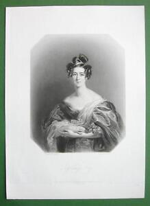 QUEEN-VICTORIA-039-S-Court-Beauty-Lady-Emily-Foley-SUPERB-Antique-Print