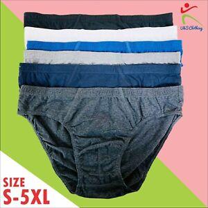 6//12 Pack Mens Classic Sports Slips Briefs Pants M L XL 2XL 3XL 4XL 5XL