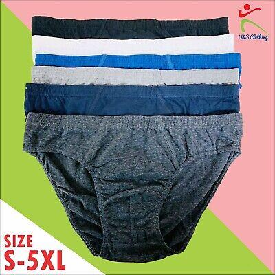 12 MEN SOFT 100/% COTTON BRIEFS SLIPS CLASSIC UNDERWEAR PANTS HIPSTERS Size S-5XL