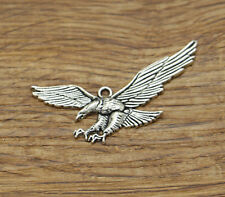 BULK 20 Eagle charms antique silver tone B249