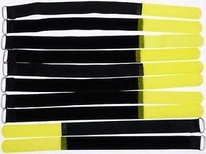 10x Velcro Serre-câbles 300 X 20 Mm Jaune Serre-câbles Câble Velcro Câble Velcro œillet-er 300 X 20 Mm Gelb Kabelbinder Kabel Klettband Kabelklett Öse Fr-fr Afficher Le Titre D'origine Ni Trop Dur Ni Trop Mou