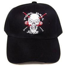 BUY 1 GET 1 FREE POOL HALL JUNKIE 24/7 BILLARDS BALLS BAEBALL HAT cap #HAT10 NEW