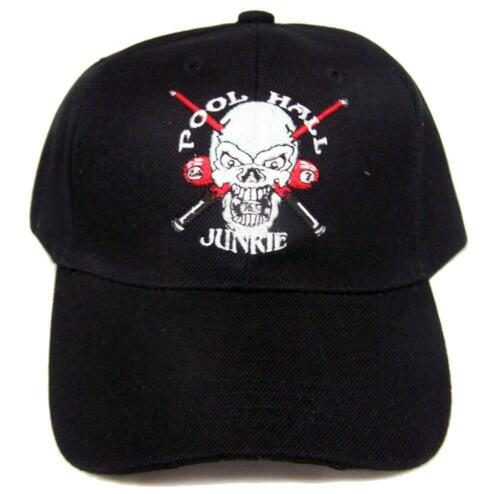 BUY 1 GET 1 FREE POOL HALL JUNKIE 24//7 BILLARDS BALLS BAEBALL HAT cap #HAT10 NEW