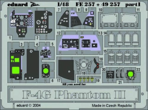 Ätzsatz Eduard Accessories 72448-1:72 F-4 Phantom II Leiter Neu