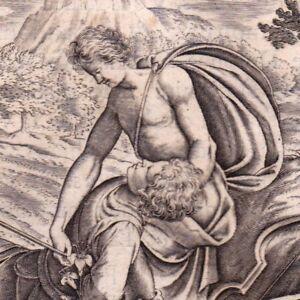 Gravure-XVIIIe-Hyacinthe-Hyacinth-Mythology-Hyakinthos-Zephyr-Boree