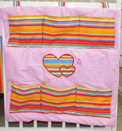 HEARTS  LOVELY COT TIDY ORGANISER  MANY COLOURS !!!