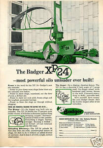 Details about 1968 Massey Ferguson MF Badger XP 24 Silo Unloader Farm Print  Ad