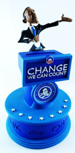 "Home and Office Obama ""Change We Can Count"" Coin Bank 10"""