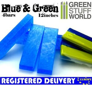 COMBO-Blue-Stuff-Instant-Plastic-Clay-and-12-039-Green-Stuff-for-BNIB-Wargames