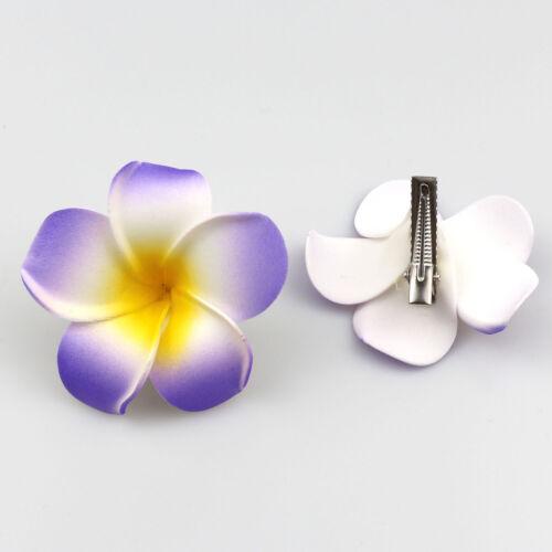 """30P 2/"""" Hawaiian Plumeria fleur mousse cheveux Clip Lot Accessoires de Voyage Plage"""