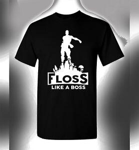 Details about Gamer T-Shirt Floss Like A Boss Funny Dance Emoji Gamer 4 Life