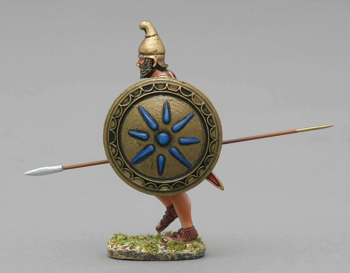 THOMAS GUNN ROMAN EMPIRE ROMEN005B CARTHAGINIAN INFANTRY CHARGING blue SHIELD MIB