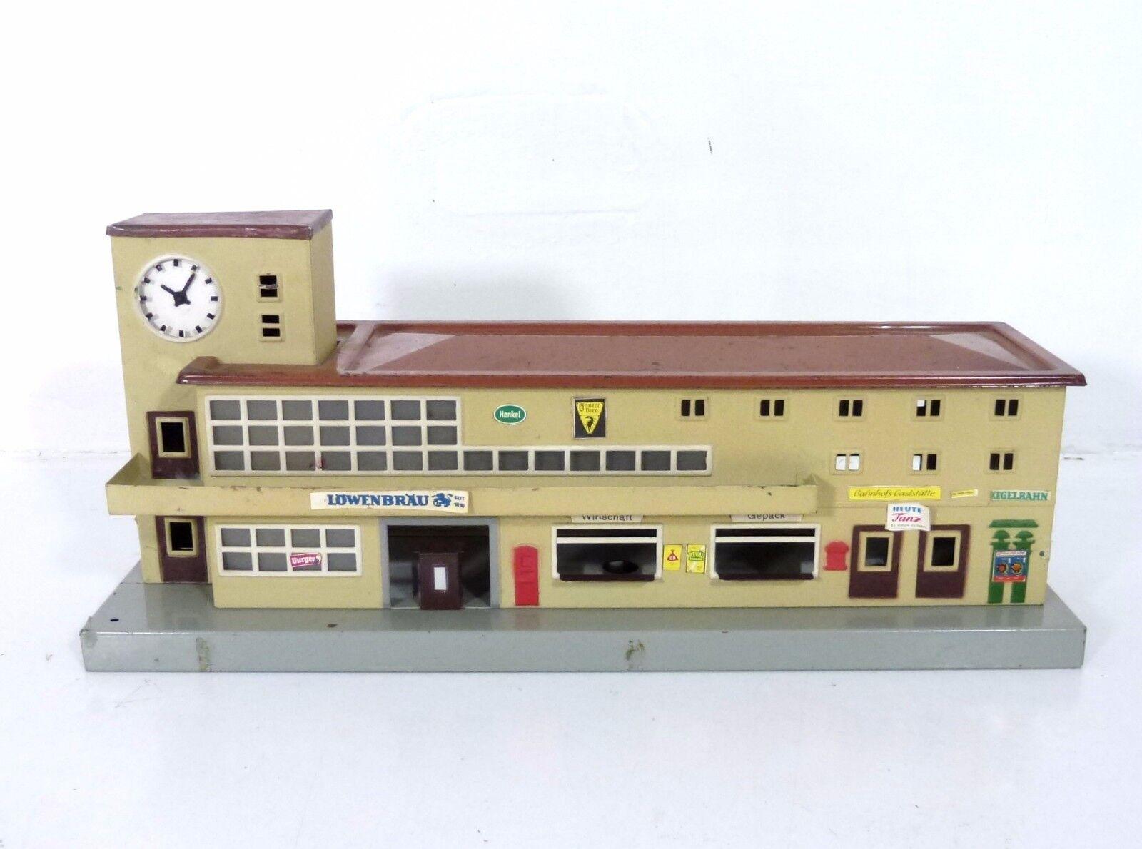 418 stazione ferroviaria Porto Friedrich con rauputz/increspature calce 1951, 800