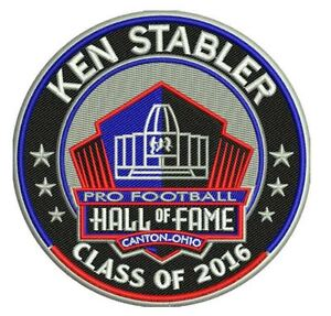 PRO FOOTBALL HALL OF FAME PATCH HOF KEN STABLER OAKLAND RAIDERS INDUCTION 2016