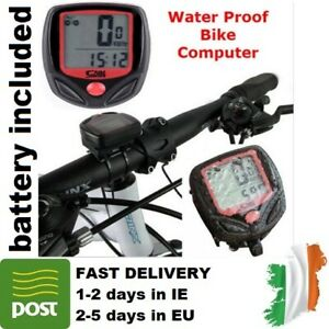 LCD-Computer-Bike-Bicycle-Cycling-Odometer-Speed-Speedometer-Waterproof-Meter