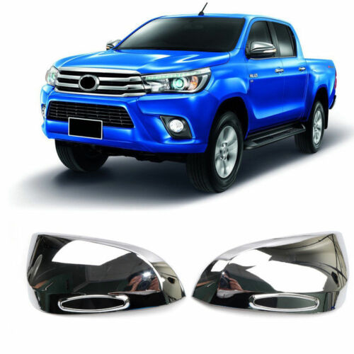 Chrome Side Door Mirror Cover Trim 2pcs For Toyota Hilux Hilux Revo 2016-2018