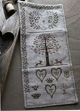 """Cross Stitch Sampler Pattern by Stacy Nash  """"Sweetheart Tree Sewing Roll"""""""