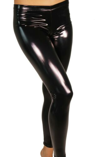 Women Plus Size GENUINE LATEX SHINY VINYL LOOK Leggings HANDMADE IN UK SIZE 8-32